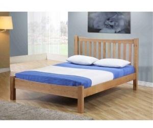 Giường ngủ nan gỗ sồi Milan 1m4