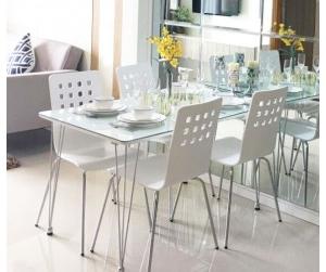 Bộ bàn ăn Crystal - ghế Square