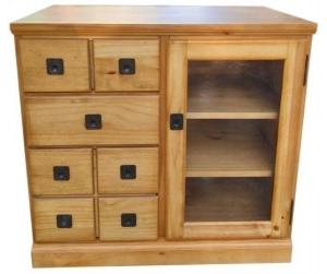 Tủ chest 3 hộc kéo pinewood.