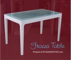 Bàn làm việc Frozza White 120 x 45cm