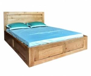 Giường đôi gỗ sồi 1m8 Yama