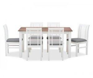 Bộ  bàn ăn 6 ghế Madang White
