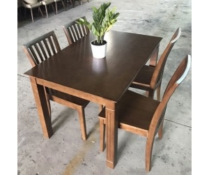Bộ bàn ăn 4 ghế nan