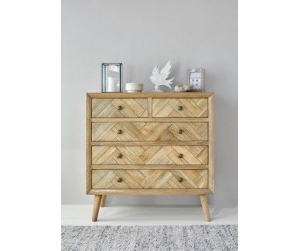 Parquet chest of drawers
