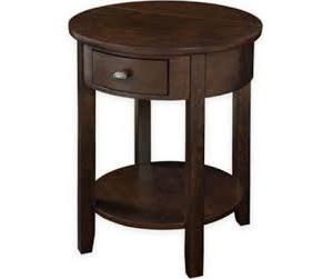 Round End Table, Espresso