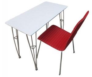 Bộ bàn làm việc chân sắt.